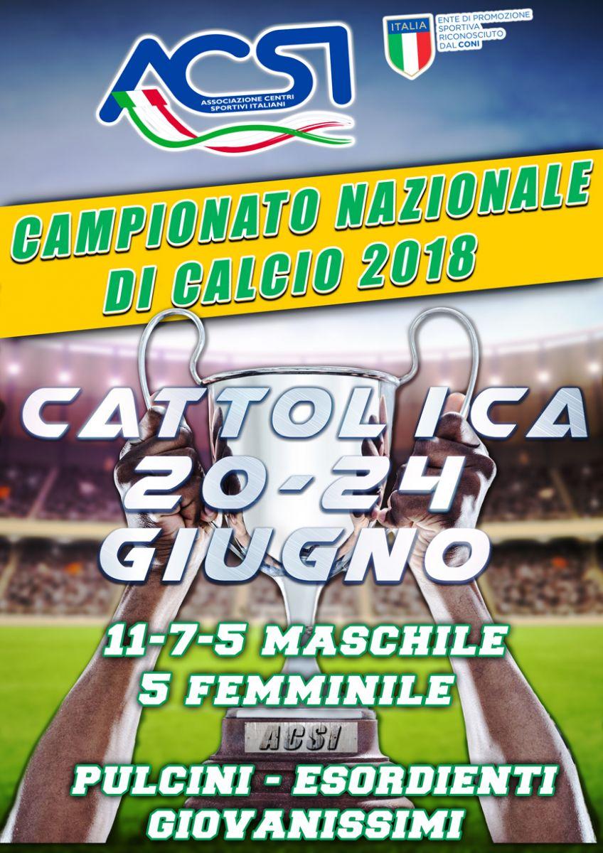 size 40 c6a33 06e37 Il Calcio targato ACSI è pronto ad accendere l estate.